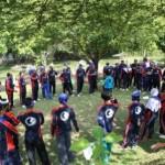 Outbound Training di Kebun Teh Wonosari Lawang BPR Syariah Mugi Karya