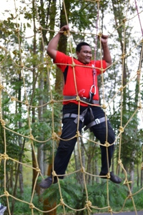 Spider Web Outbound di Malang Batu Adventure